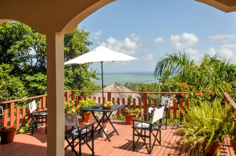 Terrace - Charming villa on the Island of Rodrigues, with garden and ocean views - Rodrigues Island - rentals