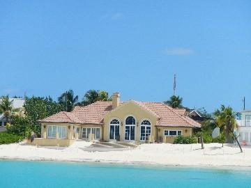 We are right behind this house. - Luxury Condo by Boggy Sand Beach (Top Floor) - Grand Cayman - rentals
