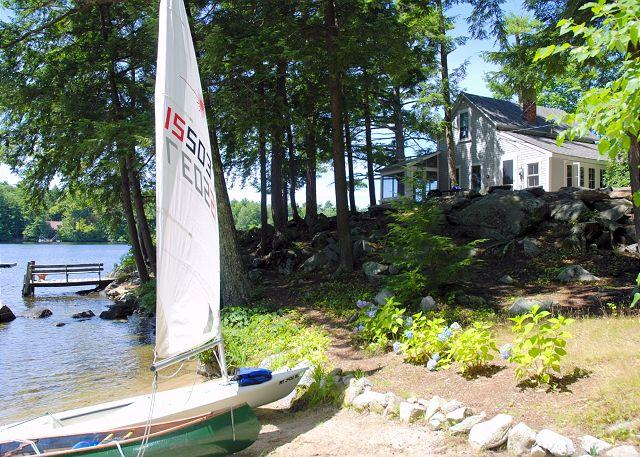 View of main cottage from beach - Private & Charming Waterfront Cottage on Lake Winnipesaukee (PRI26W) - Moultonborough - rentals