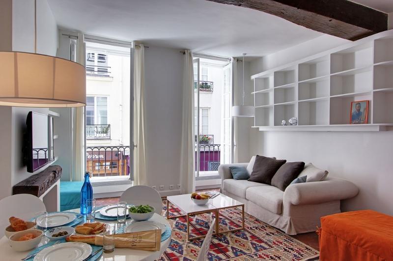 Living room - Luxury 1BR center St. Germain - Paris - rentals