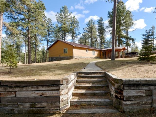 Front View of Miner Cabin  - Black Hills Cabin With Hot Tub! - Rapid City - rentals