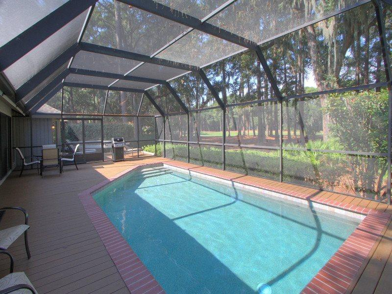 Screened in Pool at 3 Battery Road - 3 Battery Road - Hilton Head - rentals