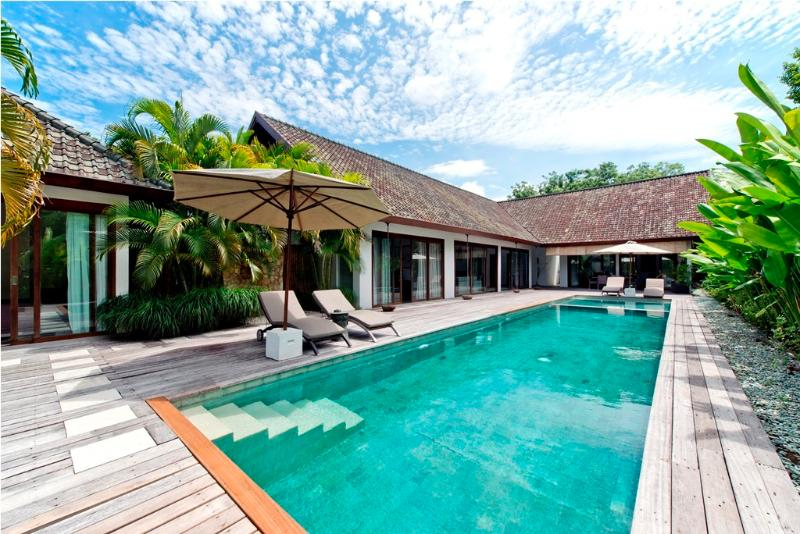 Villa and Pool view - Zen 4BR, Car+Driver, Large Pool-Central Seminyak - Seminyak - rentals
