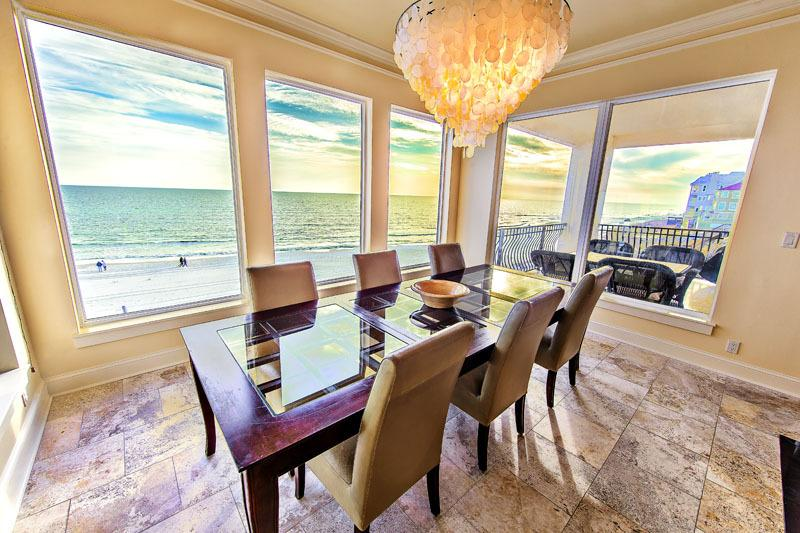 Second Floor Dining Area with Breathtaking Panoramic Views - New Low Summer Rate! Lune Lac: Luxury BEACH FRONT, Elevator-Private Pool - Miramar Beach - rentals