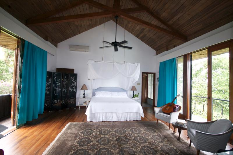 Spacious, elegant, high wooden ceilings, balconies on either side - your master bedroom - Norse Hill Estate, 4 bd/bth, 5 staff, pool, 8acres - Port Antonio - rentals