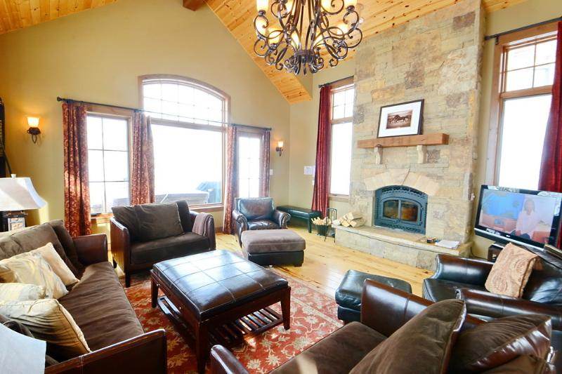 Lots of great light in the living room! - Luxury! Hot Tub! Slps 13! - Crested Butte - rentals