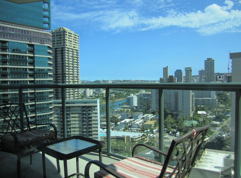 View from lanai - The Allure Waikiki 22F Fully Furnished Condo - Honolulu - rentals