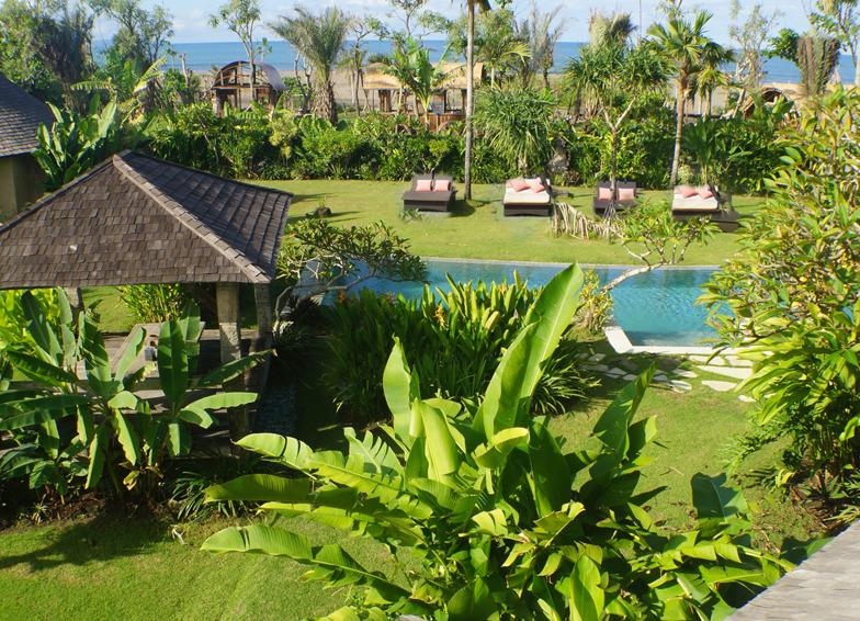 3400 Square meters of lush garden with breathtaking Indian Ocean vistas - Beachfront luxury, Seminyak 4 and 6 Bedroom Villas - Canggu - rentals