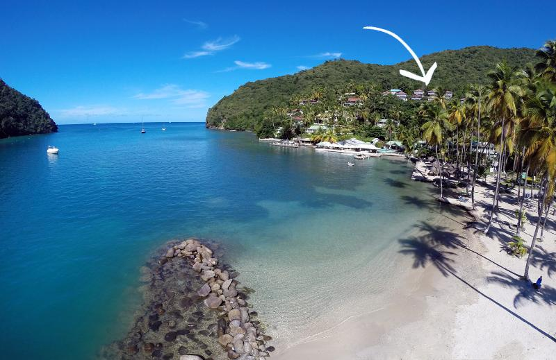 Walk Down From the Villa to the Beach! - Private Sea Houses of Marigot Bay (12 Units) - Marigot Bay - rentals