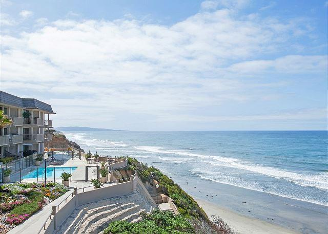 View of property and access point to semi private beach - Oceanfront Condo w/ Stunning Views in Del Mar Beach Club - Solana Beach - rentals