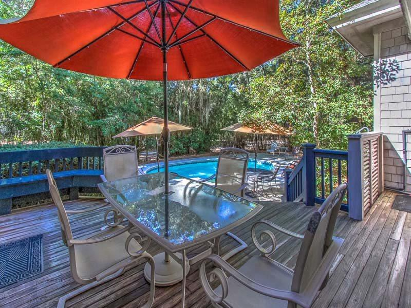 Pool Area at 14 Bald Eagle - 14 Bald Eagle - Sea Pines - rentals