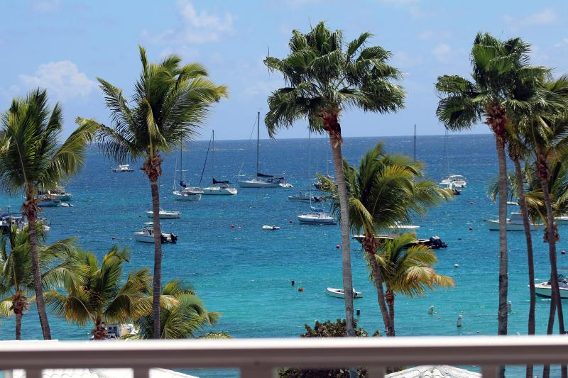 Best View from open upper deck - Luxury Condo St Thomas Vacation Rental Cowpet Bay - East End - rentals