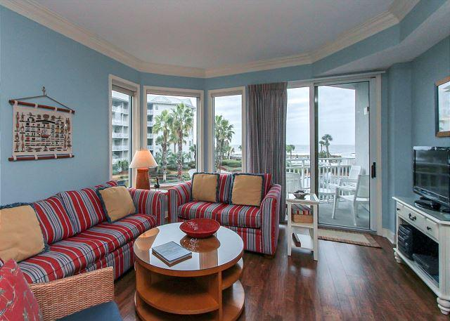Living Area - 1205 SeaCrest- Pretty Villa,  Beach & Ocean Views - Hilton Head - rentals