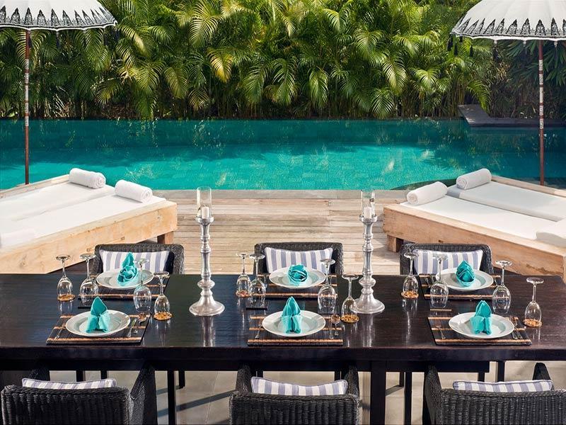 Maya Retreat - Dining table pool view - Villa Maya Retreat - an elite haven - Tabanan - rentals