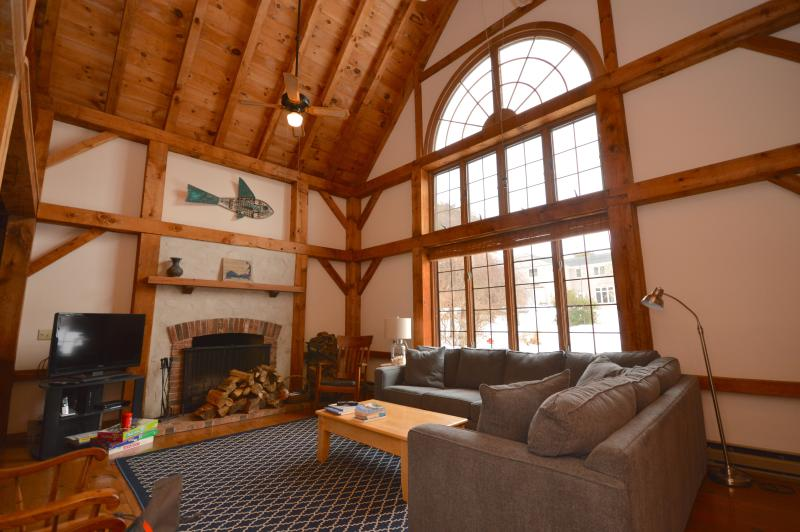 Wonderful vaulted living space with beautiful woodwork. New couch. - 350 Yards from Nauset Beach - Orleans - rentals