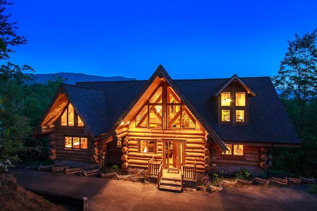 "Welcome to fabulous LeConte View Lodge, sleeps 26 guests - Jun 21-25 Open! ""LeConte View"" Gorgeous 7 BR Log Cabin, 1 Mile to Swimming Pool - Gatlinburg - rentals"