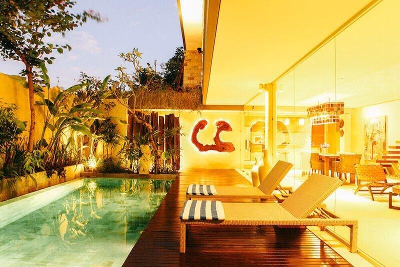 Pool view - Jedar, Luxury 2 Bedroom Villa, Umalas,10 Mins To Seminyak - Bali - rentals