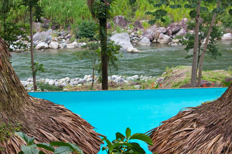 View from Ceiba Tree of the pool and river - Ceiba Tree Lodge, jungle eco resort in Pico Bonito - La Ceiba - rentals