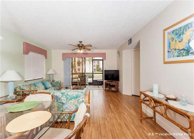 "Living room - Ocean Village K11, Ground Floor, Corner, Newly Updated 40"" HDTV - Saint Augustine - rentals"