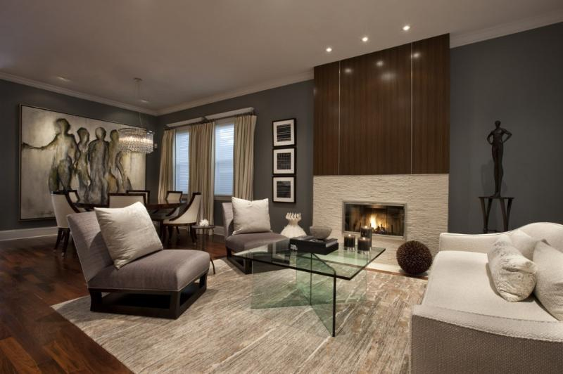 Living Room - Luxury Home in West Lakeview - Chicago - rentals