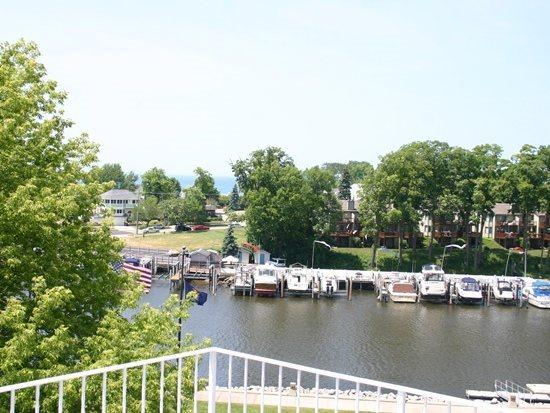 View to the harbour from one of three decks - 316 Indiana- You`ll love the views and town is right around the corner. Weekly stays begin on Saturday - South Haven - rentals