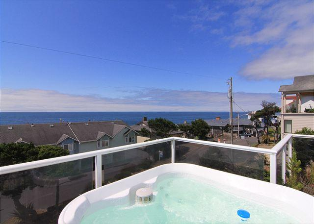 Gorgeous Ocean Views, Hot Tub, Pool Table & More Just Steps From The Beach - Image 1 - Lincoln City - rentals