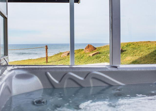 Newly Remodeled Oceanfront Home with Amazing Views, Hot Tub, and Game Room - Image 1 - Lincoln City - rentals