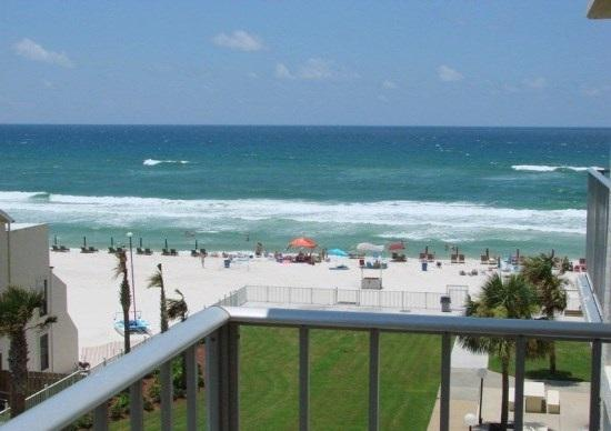 Wonderful View from the Large Balcony - Regency Towers Unit 526, Spacious 3 bedroom - Panama City Beach - rentals