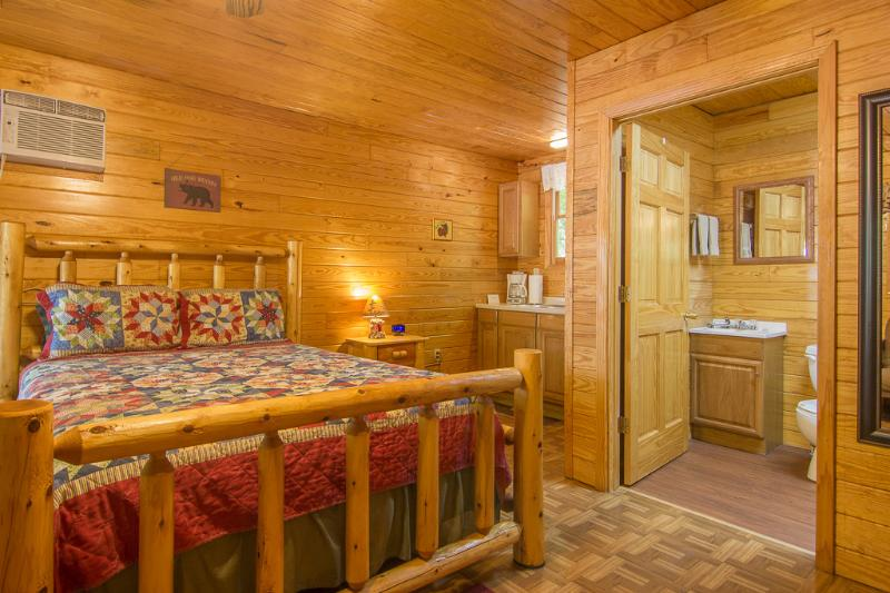 One room log cabin with queen size bed, mini kitchen and bath/shower unit - Studio Cabin/Sleep 5 /Pet Friendly/Fall Dates Open - Gatlinburg - rentals