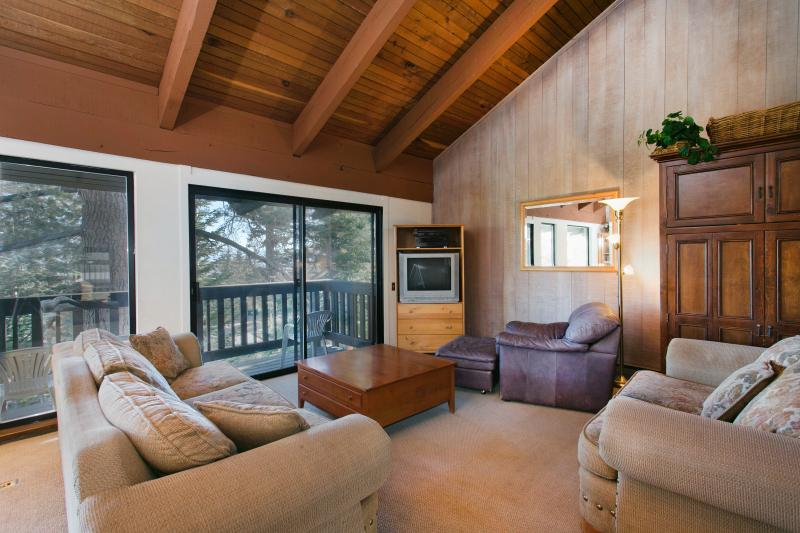 Mammoth Point #135 Living Area With A Wood Burning Fireplace - Mammoth Point 135 - Mammoth View Rental - Mammoth Lakes - rentals
