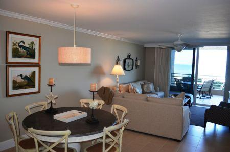Dining area - Spacious and Stunning Beachfront Condo in Prized Island Resort Complex - Marco Island - rentals