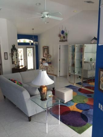Main living area - Colorful and Modern Vacation Home -Great location...close to public beach ! - Marco Island - rentals