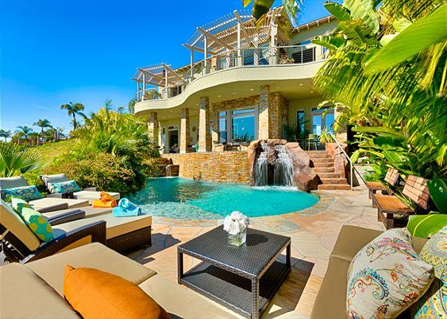 Multiple outdoor living spaces - OFF-SEASON SPECIALS - Luxury Resort Estate-Private Beach, Pool, Jacuzzi - Carlsbad - rentals