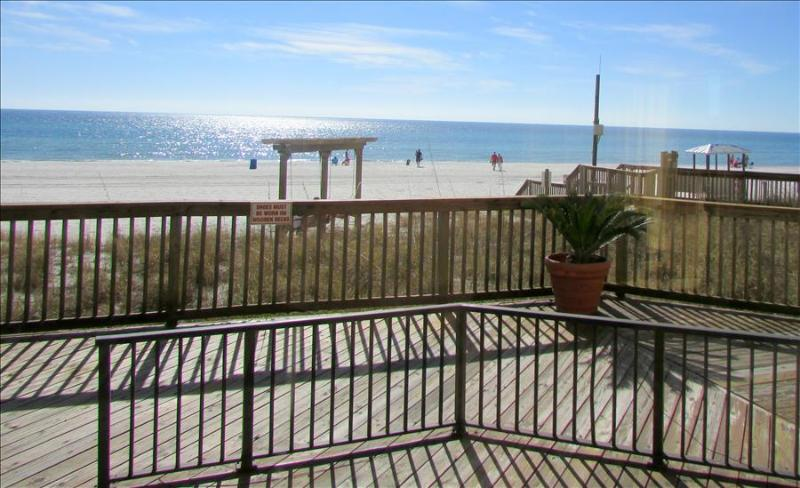 Private Deck Overlooking Ocean in 1 Bedroom at Sunbird - Image 1 - Panama City Beach - rentals