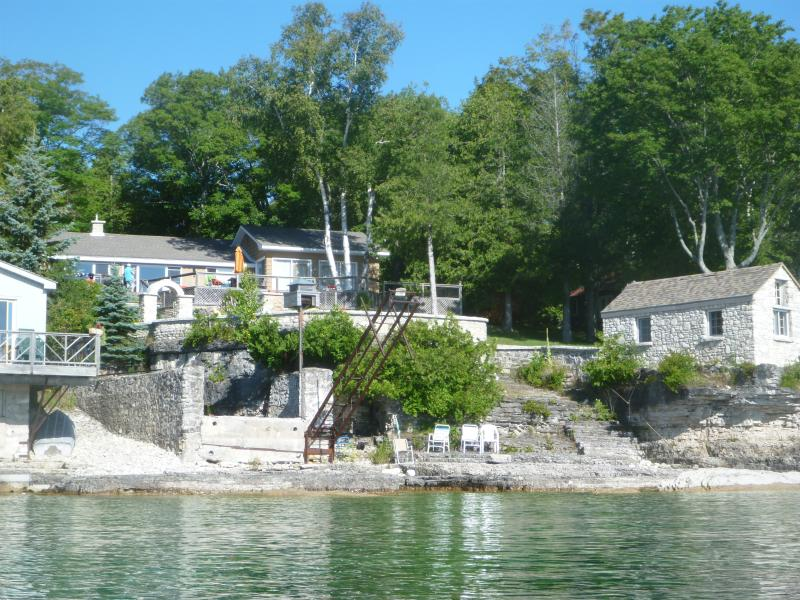 Property view from water - Lakefront  Bruce Peninsula, Ontario, Canada - Lion's Head - rentals