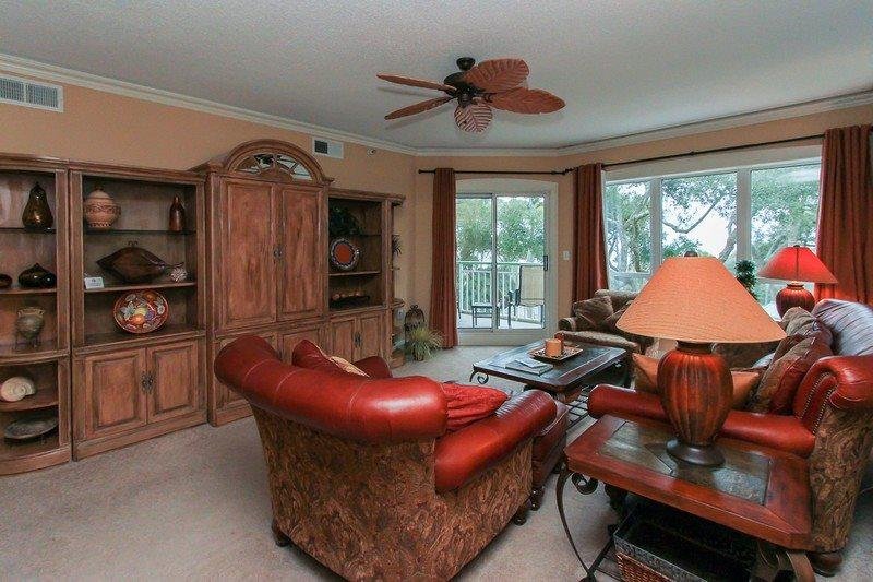 Living Room at 2313 Windsor II - 2313 Windsor II-Bathrooms Renovated in 2015 - Palmetto Dunes - rentals
