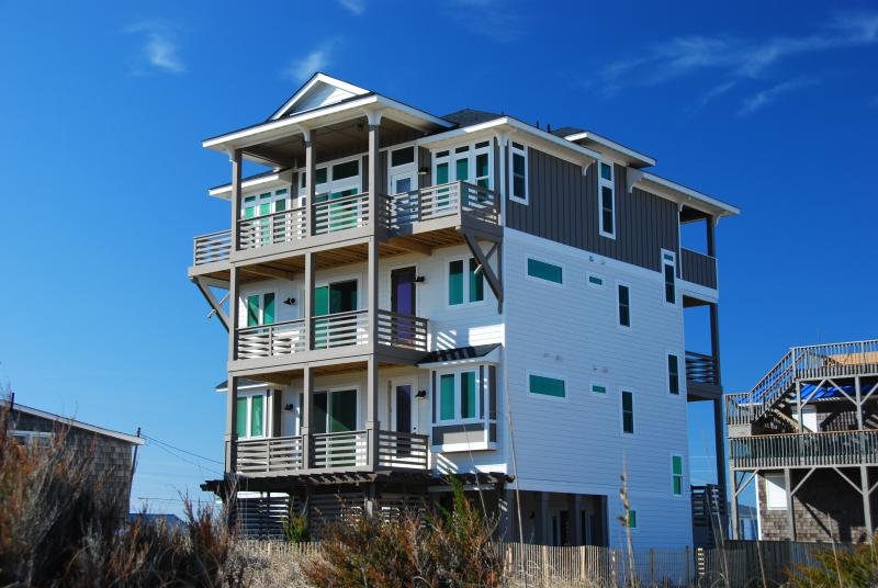 Exterior Photo Taken From The Beach Road - Ocean Retreat, Brand New,6 Bedroom, Stunning Views - Kill Devil Hills - rentals