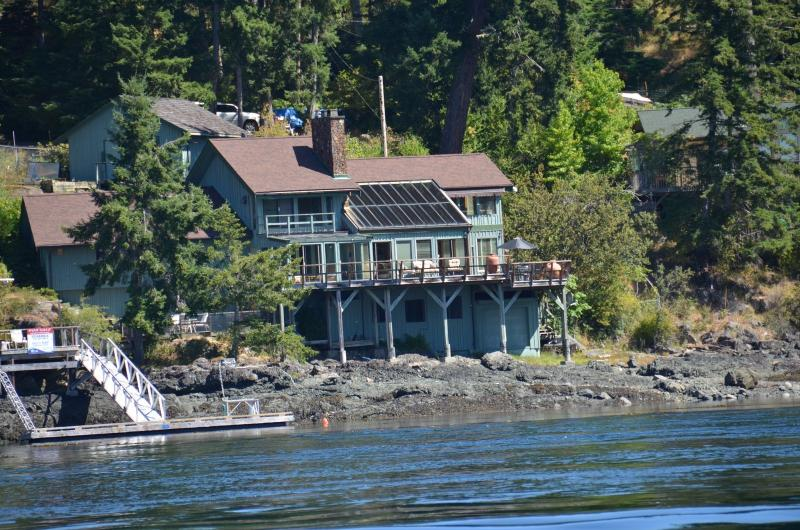 View of House From The Water - AAMLODGE Quadra Island Luxury Waterfront Home - Quadra Island - rentals