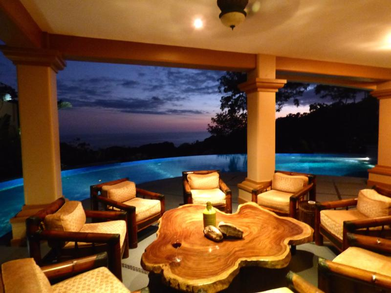 Sit and relax, enjoy the view of the tropical sunset - Villa Mareas; Weddings, Yoga Retreats and Reunions - Dominical - rentals