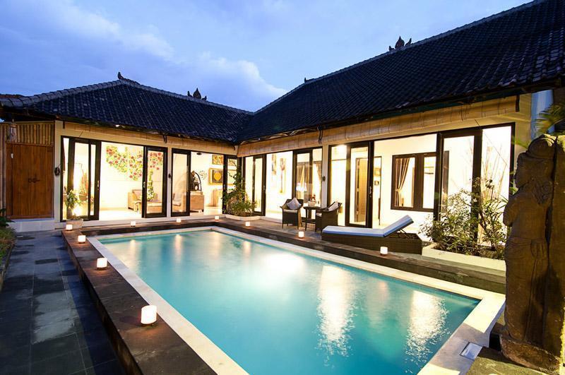 villa view - Luxury 4/8 BR villa, 5 min to Double Six, Seminyak - Seminyak - rentals