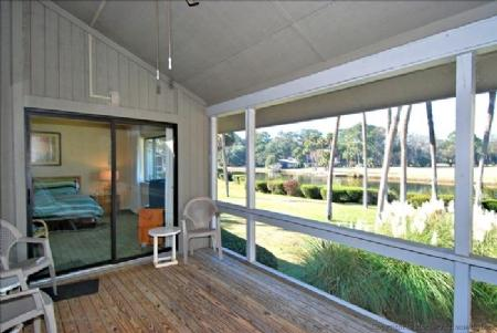 Screened Porch - 2 Bedroom Villa Located in Sea Pines with Golf Course Views - Hilton Head - rentals