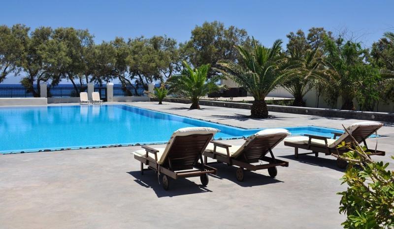 Outdoor pool - Blue Villas |Lazurite| Luxurious beachfront villa - Oia - rentals