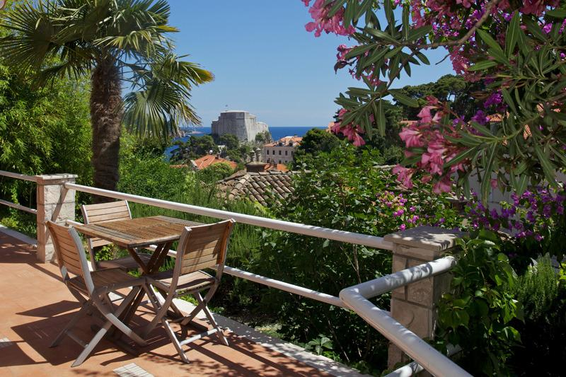 Terace with sea and Old Town view - Perfect Ankora 1 studio - breathtaking sea view - Dubrovnik - rentals