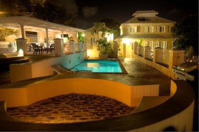 La Mansion, pool & pool pavilion at night - La Mansion - Charlotte Amalie - rentals