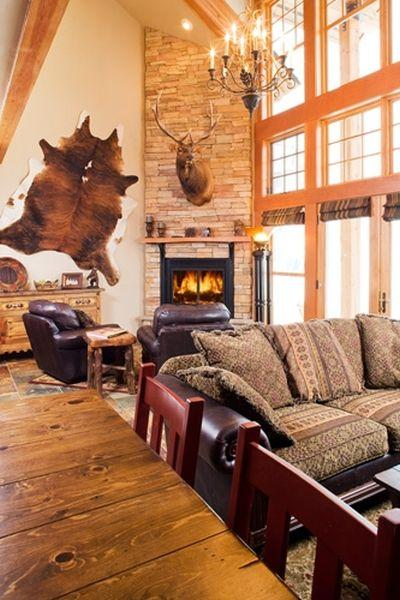 living room w fireplace - Elkpoint Ski in Ski out - Durango - rentals