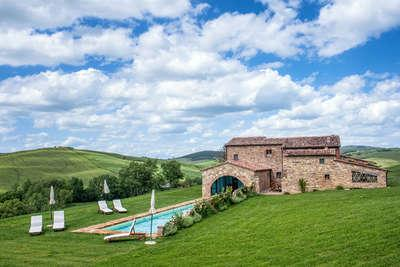 EXTERIOR - villa CASALE PIENZA, Siena-Cortona area,14  guests - Monticchiello - rentals