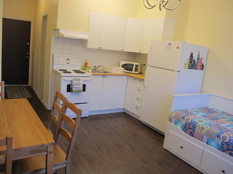 Room view - your own kitchen and private bathroom. - Soshe 209 - Studio adjacent MUHC Glen Campus, minu - Montreal - rentals