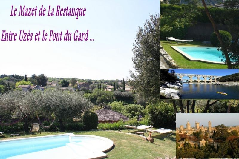 2 self catering accomodations with shared swimming pool : La Restanque - Uzes & Pont du Gard : 2 Gites +swimmingpool+river - Collias - rentals