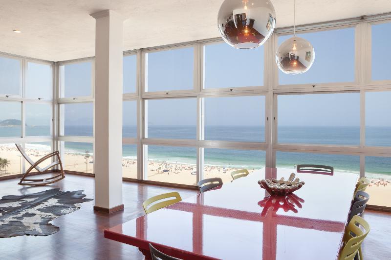 Dining area - W95 - Ocean View Penthouse in Copacabana - Rio de Janeiro - rentals