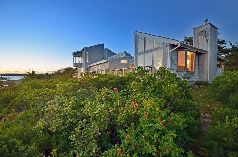 Exterior View of the back of the home. - Shorefront Home on 20 Secluded Acres, Spectacular - Gouldsboro - rentals